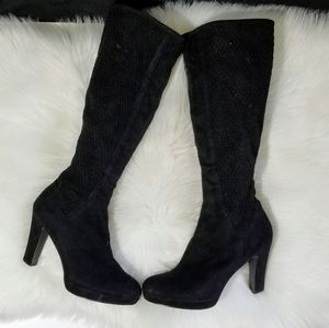 IMPO Stretch Knee High Boots Black